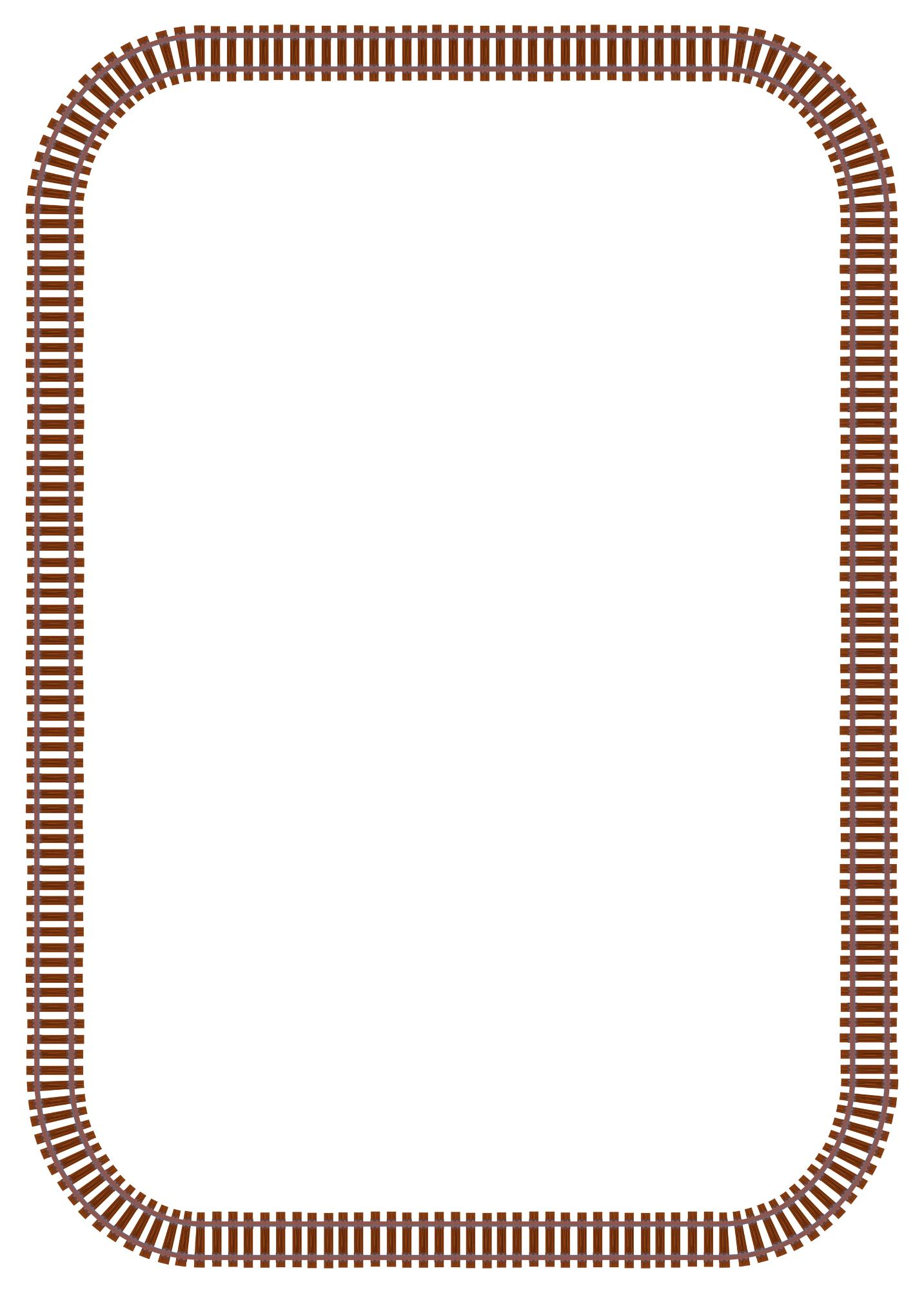 Collectiontdwn Train Track Page Border on Reading Cl For Kids